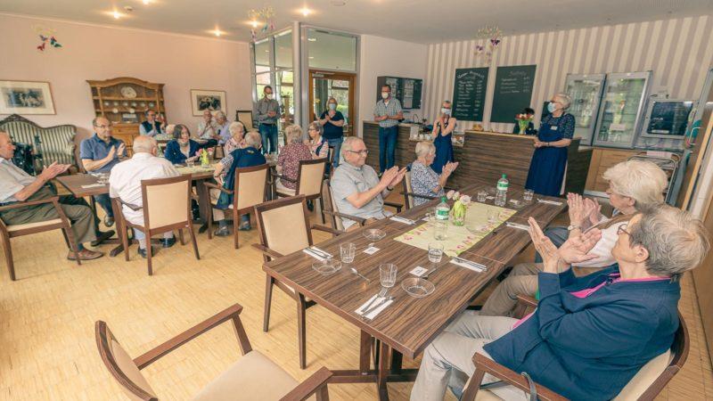 Wolbecker Mittagstreff startet wieder im Café des Achatiushauses im Juli 2021. Foto: A. Hasenkamp.