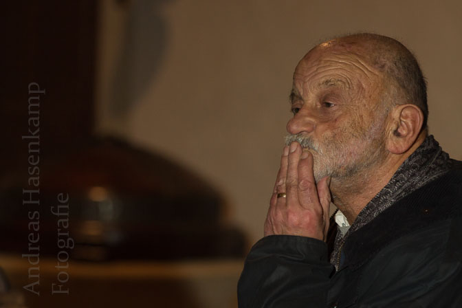Ernst Swensson sprach in der Nikolaus-Kirche in Münster-Wolbeck. Foto: A. Hasenkamp, Fotograf in Münster.