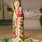 "Mai-Andacht mit Maria ""ohne Sockel"" in St. Nikolaus"