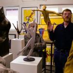 Wolbecker zu Besuch im Atelier Rumpke