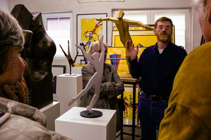 Wolbecker zu Besuch im Atelier Rumpke 2
