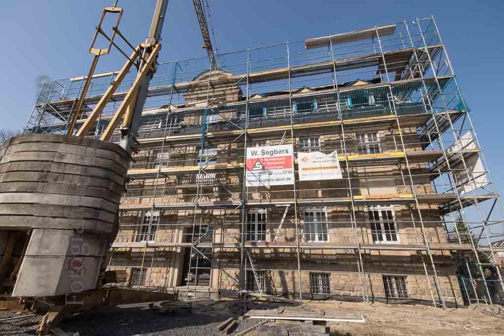 Umbau an und neben dem Bezirksverwaltungs-Gebäude. Foto: A. Hasenkamp, Fotograf in Münster.