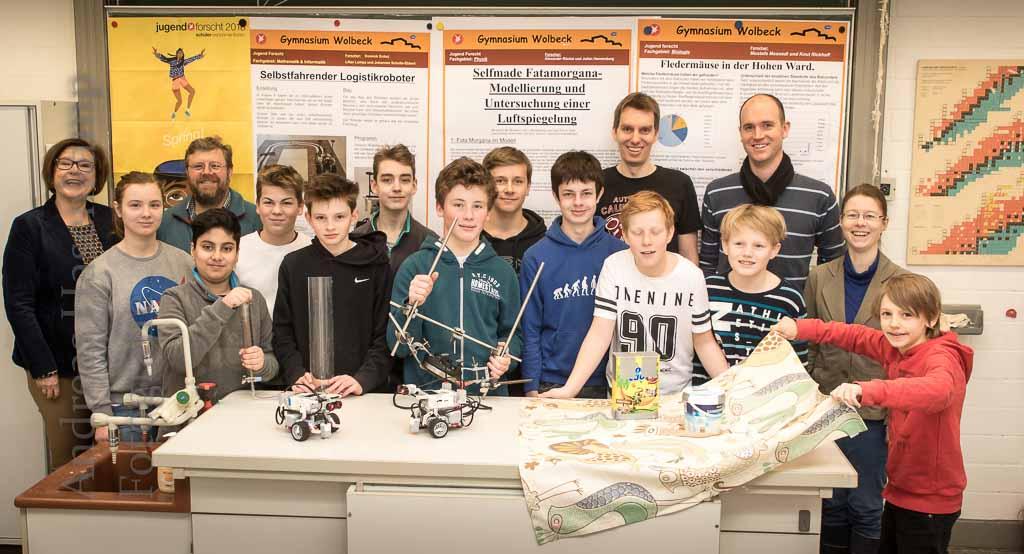 Gymnasium Wolbeck erfolgreich bei Schüler experimentieren und Jugend forscht