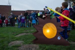 Laternenfest bei Kita und Bauspieltreff Holtrode in Münster-Wolbeck. Fotograf: A. Hasenkamp, Münster.