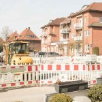 Baustelle am Marktplatz Wolbeck im März 2018