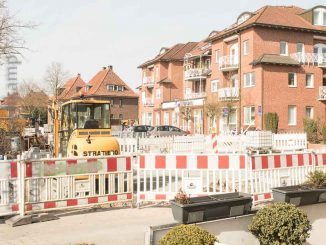Baustelle am Marktplatz Wolbeck im März 2018 3