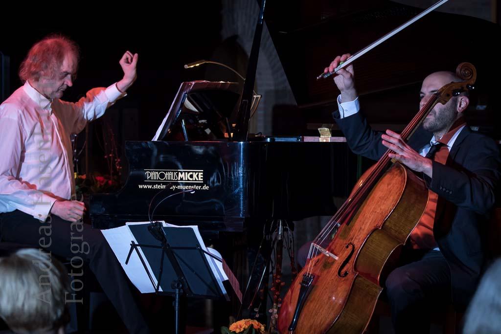 The Modern Cello-Piano-Duo verfremdet virtuos in Wolbeck Clemens Kröger und Daniel Sorour erneut zu Gast bei KulturVorOrt Wolbeck