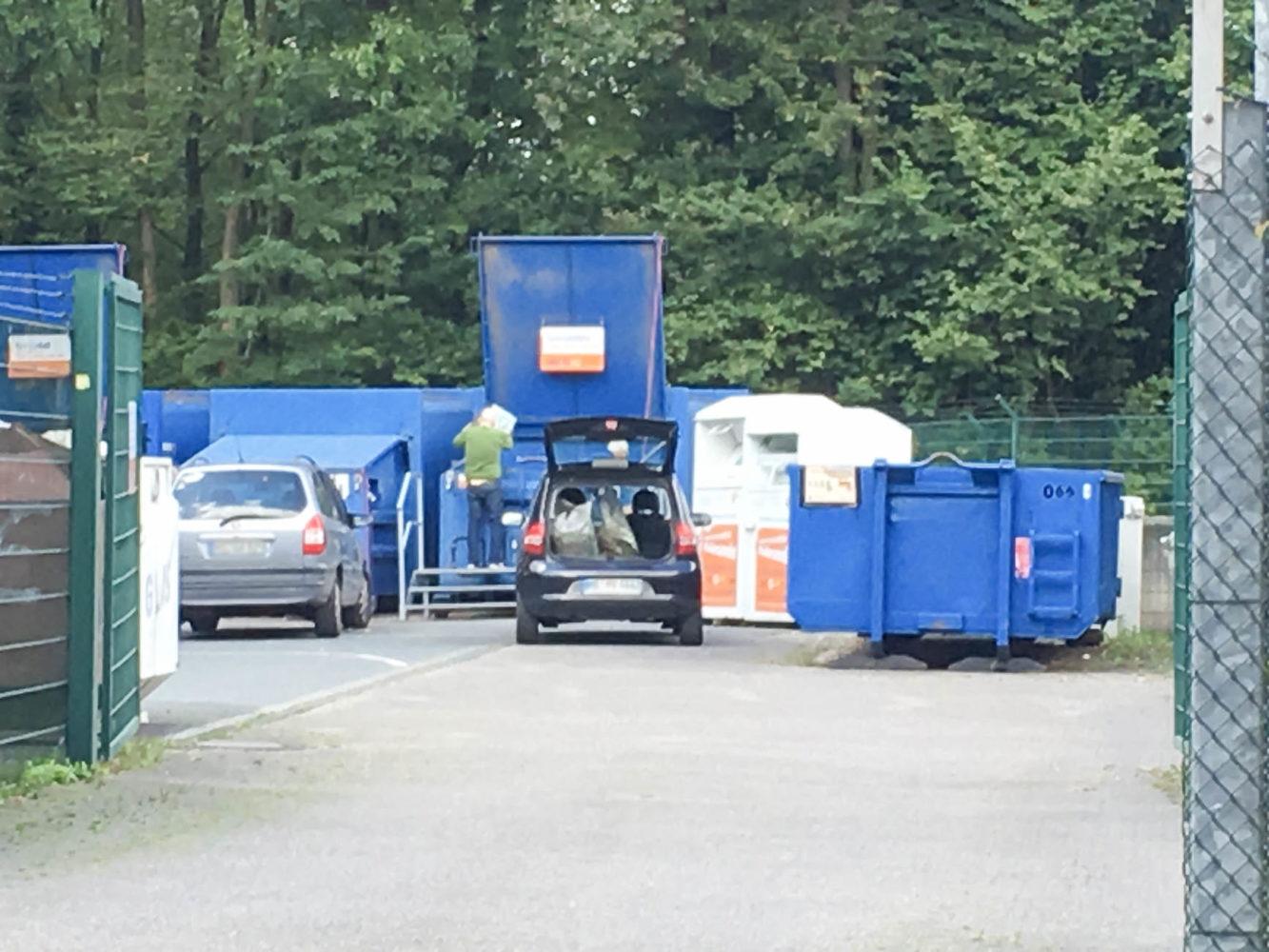 Einfahrt zum Recyclinghof Wolbeck der AWM.