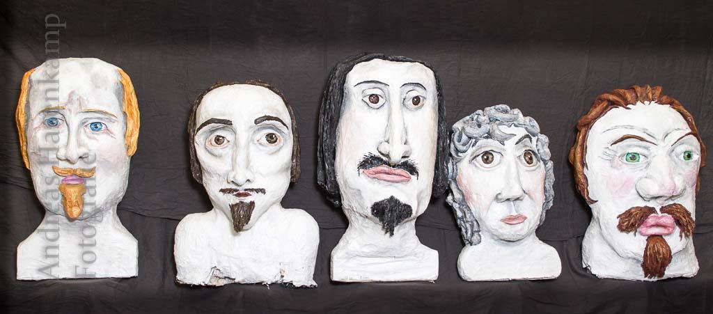 Spektakel zum Frieden von Münster mit Köpfen aus Wolbeck Realschüler fertigten überlebensgroße Portraits der Verhandlungsführer