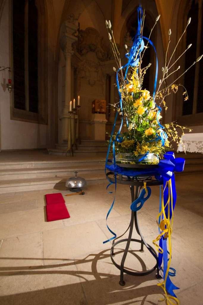 Blumenschmuck zu ZiBoMo in St. Nikolaus
