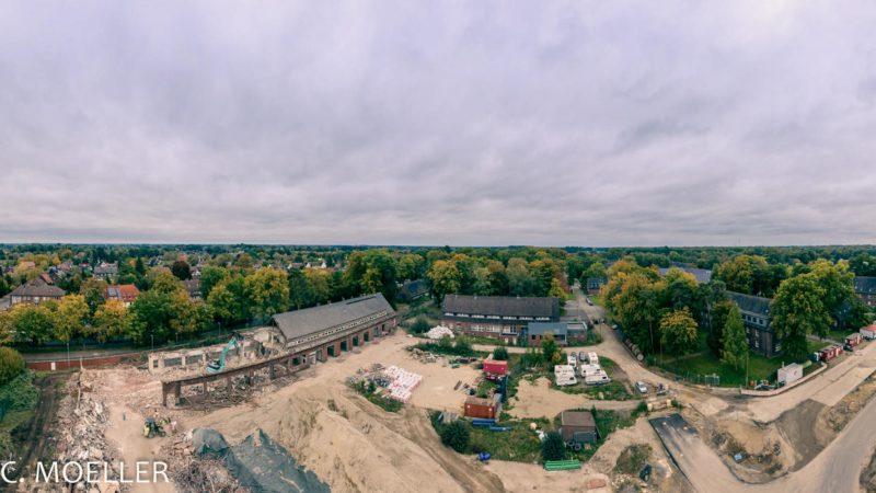 Auf dem Weg zum Wohnquartier ist das Gelände der ehemaligen York-Kaserne in Gremmendorf. Ein vorerst letzter Rundgang findet am 4. September statt. Foto: KonvOY/Michael C. Möller.