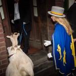 Ziegenbocksmontags-Umzug mit Ziegen und megabunten Ideen
